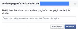 Facebook bedrijfspagina andere pagina liken 2