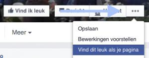Facebook bedrijfspagina andere pagina liken 7