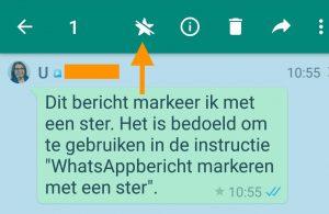 WhatsAppbericht met ster verwijderen